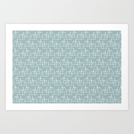 White houses Art Print