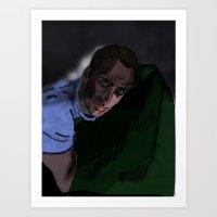 nicolas cage Art Prints featuring Nicolas Cage by Vito Giorgio