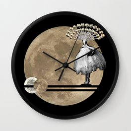 Moon. Child. Wall Clock