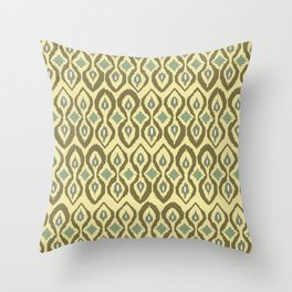 warm boardwalk ikat Throw Pillow