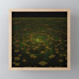 Squares on sky Framed Mini Art Print