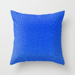 Wild Thing Cool Blue Leopard Print Throw Pillow