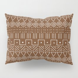 Mudcloth Style 1 in Brown Pillow Sham