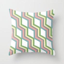 Pastel Cheveron Pattern Throw Pillow