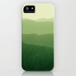 gradient landscape green iPhone Case