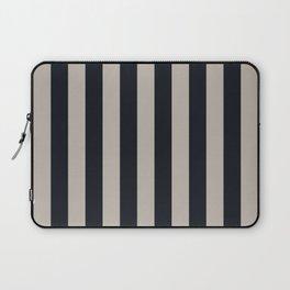 Vertical Stripes Black & Warm Gray Laptop Sleeve