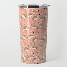 Flamingo Family // Peach Travel Mug