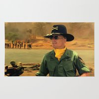 apocalypse now Area & Throw Rugs featuring Robert Duvall @ Apocalypse Now by Gabriel T Toro