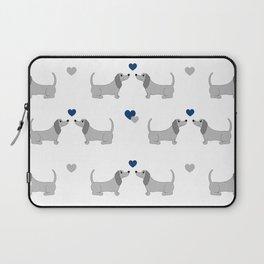 Puppy Dachshund Dog Baby Boy Nursery Laptop Sleeve