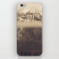 nan lawson iPhone & iPod Skins featuring mt. lawson, kananaskis country, alberta by wild strawberry