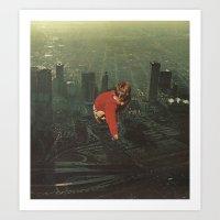 houston Art Prints featuring houston by Jesse Treece