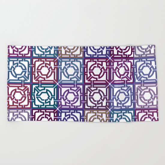 Colorful Maze V Beach Towel