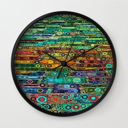 :: Technicolor Walkway :: Wall Clock