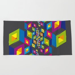 Socialization Colors Beach Towel