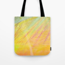 Abstract sunset - yellow, orange and blue - Tote Bag
