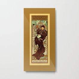 Vintage Alphonse Mucha Lorenzaccio vertical banner Metal Print