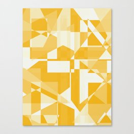 Geometry in yellow Canvas Print