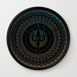 Trisula  -Trident of Shiva Wall Clock