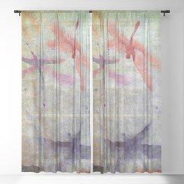 dragonfly dreams Sheer Curtain