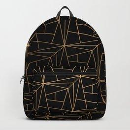 Elegant Black And Gold Minimalist Pattern  Backpack