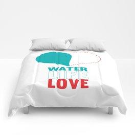 water life love.   Comforters