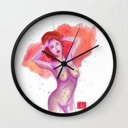 PurpleDancingQueen Wall Clock