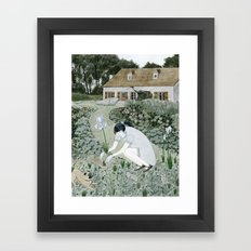 Planting Irises Framed Art Print