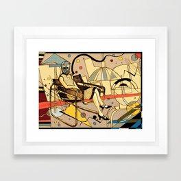 Bauhaus Kandinsky Mash Up Framed Art Print