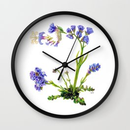 Statice Flower Dissection Wall Clock