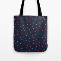 snowboarding Tote Bags featuring TRY ANGLES / snowboarding by DANIEL COULMANN