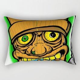 Cocktail Weenie and the Tiki Hut Rectangular Pillow