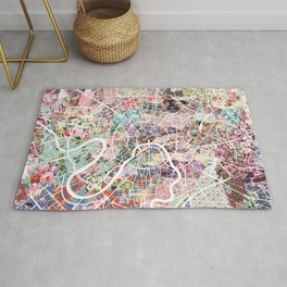 Moscow map Rug
