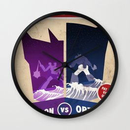 Optimus Prime vs Megatron Fight Poster Wall Clock