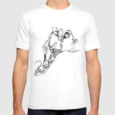 The Kiss White MEDIUM Mens Fitted Tee