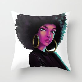 purple wave Throw Pillow