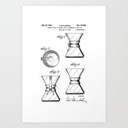 Blueprint art prints society6 chemex coffee maker original patentblueprint artwork art print malvernweather Gallery