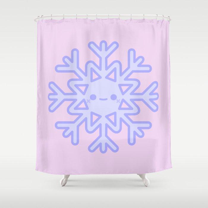 Cute Snowflake Shower Curtain