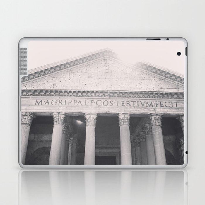 The Pantheon, fine art print, black & white photo, Rome photography, Italy lover, Roman history Laptop & iPad Skin