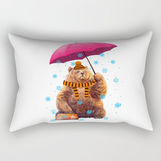 Winter bear Rectangular Pillow