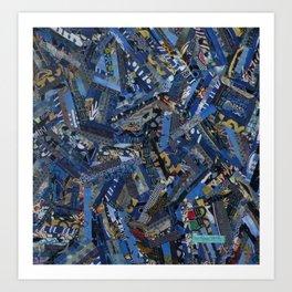 Textile Fiber  Art Art Print