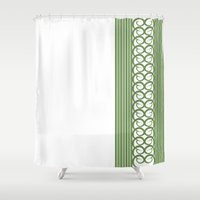 striped Shower Curtains featuring Striped by Panda