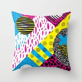 CMYK Balance Throw Pillow