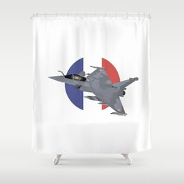 Rafale French Jet Fighter Shower Curtain