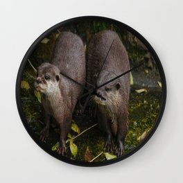 The Two Otters Wall Clock