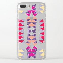 Colorful Tropical Vertical Geometric Zenspire Pattern Clear iPhone Case