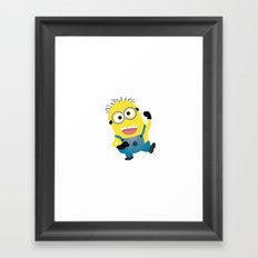 MINION...SAY WHAT?  Framed Art Print