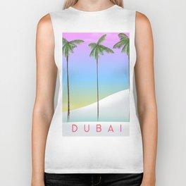 Dubai desert and palms travel poster Biker Tank