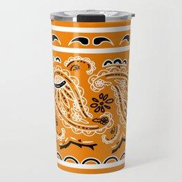 Citrus Orange Bandana Travel Mug