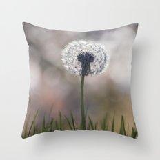 dandelion....i wish Throw Pillow