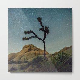 Starry Night in Joshua Tree Metal Print